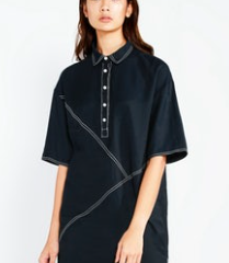 Hansen Stitch Detail Oversized Shirt