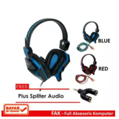 Rexus Headset Gaming F-22 with Mic Free Conektor Spliter FAK-0973