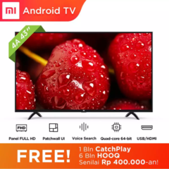 GRATIS ONGKIR Xiaomi MI LED TV 43 inch - Android Smart TV - Patchwall - Wifi - Full HD