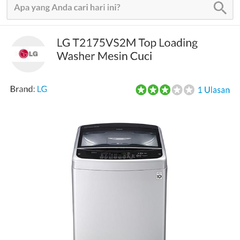 LG T2175VS2M Top Loading Washer Mesin Cuci