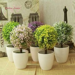 Artificial Potted Tree Outdoor 1pc Artificial Topiary Tree