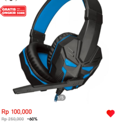 Headshet gaming aula prime lb-01 blue