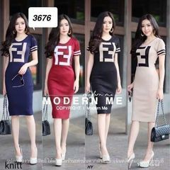 DRESS FENDI/FF KW DRESS WANITA KEKINIAN BHN BABYTERY FIT L