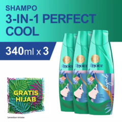 Rejoice 3-in-1 Perfect Cool Sampo 340 ml - Paket isi 3