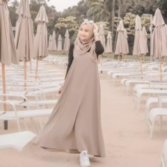 Longdress wanita long dress muslim baju wanita Revalina Loose Dress | Lazada Indonesia