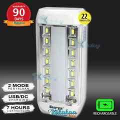 Surya Lampu Emergency SQL L2207 Light LED 22 SMD Super Terang Rechargeable 7 Hours Promo Slash