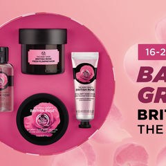 GIVEAWAY BODY SHOP BRITISH ROSE COLLECTION!