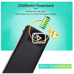 Powerbank 25000mah Fast Charging Dual Output Power Bank Hitam