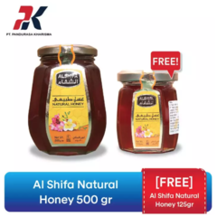 [Gratis Al Shifa Natural Honey 125gr] Al Shifa Natural Honey Madu Alami 500gr