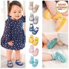 Sepatu Bayi Booties Baby Toddler First Walkers Cotton Colorful Soft Sole Anti-Slip Shoes
