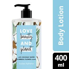 LOVE BEAUTY PLANET BODY LOTION COCONUT WATER & MIMOSA FLOWER 400ML