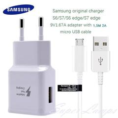 Samsung Travel Charger Fast Charging 15W with Micro USB Cable For  S6/S7/S6 Edge/ S7 Edge - Original
