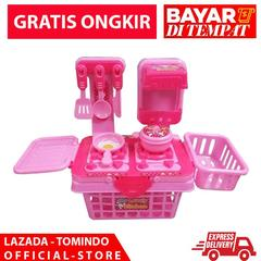 Tomindo mainan anak perempuan - My Lovely Kitchen Set Pink / Mainan Masak Masakan / mainan anak laki laki / mainan cewek / mainan anak cewek