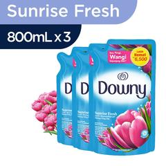Downy Sunrise Fresh Refill 800ml - Paket isi 3
