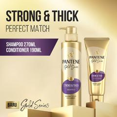 Pantene Pro-V Gold Series Strong & Thick Sampo 270ml + Kondisioner 190ml