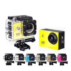 Mini Action Camera, Full HD 720P 30m Waterproof Sports DV Camcorder with 2 Inch LCD Screen for Extreme Outdoor Sports