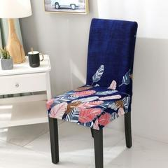 TERLARIS Cover Sofa Ruang Tamu Meja Makan Sarung Kursi Sofa NAVY FEATHER - JGfoyVPz