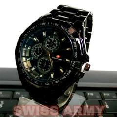 Jam Tangan Quartz Stainless Steel Swiss Army Pria
