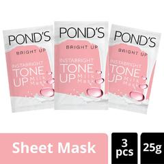 Ponds Tone Up Milk Masker Sheet Mask Vitamin C 25G Multipack Isi 3
