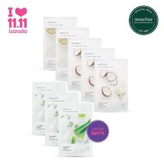 [11.11 set] My real squeeze mask Aloe 3pc + Coconut 3pc + Oatmeal 2pc