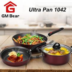 GM Bear Panci Teflon 1 Set 3 pcs 1042-Panci Teflon Set 3
