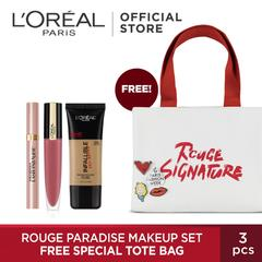 [Exclusive 12.12] L'Oreal Paris Rouge Paradise Make Up Set Free Special Tote Bag