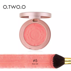 O.TWO.O Aisa 6 Colors Blush Natural Baked Face Mineral Blusher Palette with Brush