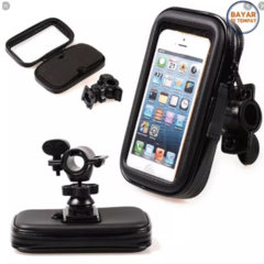 Motorcycle Waterproof Holder Bag / Holder Motor Anti Air for smartphone 5,5 inches - Hitam
