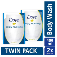 Dove Deeply Nourishing Body Wash Refill 400ML Twin Pack - Sabun Mandi Cair
