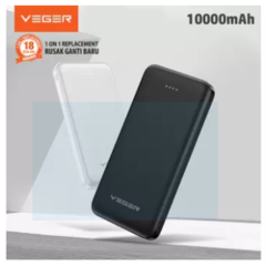 [EXCLUSIVE LAUNCHING] VEGER Powerbank X109 10000mAh 2 Ports USB Output 2.4A Slim Real capacity