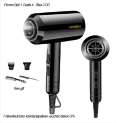 BELI 1 GRATIS 4 Hair Dryer Salon Profesional 650W HD01 Teknologi Ion Pengering Rambut 5 in 1 hairdryer hairdrayer Dyson