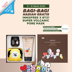 GIVEAWAY INNISFREE x BTS LIMITED EDITION VOLCANO MASK CLEANSING FOAM SET