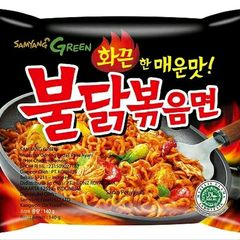 MIE SAMYANG RAMEN HOT CHICKEN GREEN ORIGINAL HALAL MUI ASLI KOREA