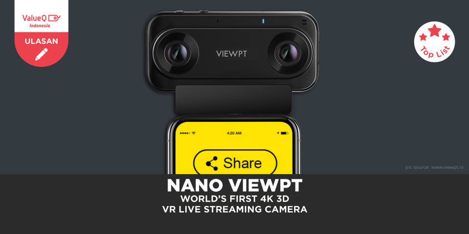 NANO VIEWPT World's First 4K 3D VR Live Streaming Camera Review