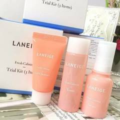 Laneige Fresh Calming Trial Kit 3 Items Morning Routine Set Ready Stock Original Travel Size - gWrwSWvD