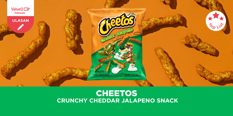 Review Cheetos Crunchy Cheddar Jalapeno