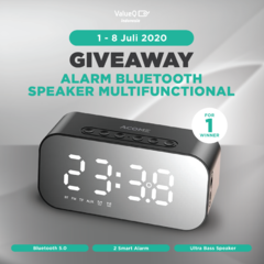 GIVEAWAY EXCLUSIVE ALARM BLUETOOTH SPEAKER