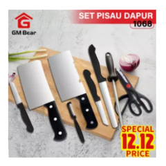 GM Bear Set Pisau Dapur isi 8 pcs 1068-Pisau Set 8 Pcs