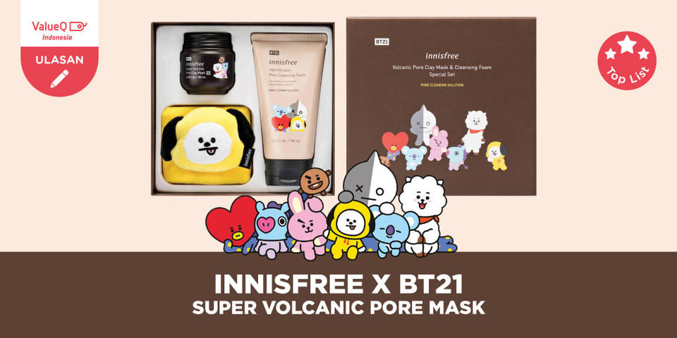 Review Masker Volcanic Clay Mask Innisfree BT21